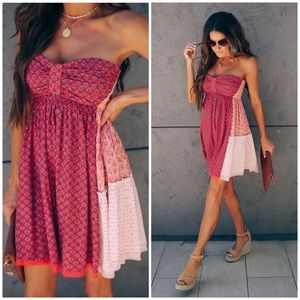 Free People Across The Sea Strapless Tunic Dress